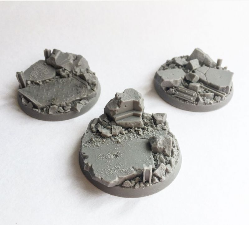 50mm Urban Rubble Bases (3)